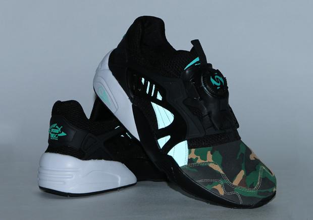 "c28a3f562a21 atmos x Puma Disc Blaze ""Night Jungle"". Color  Black Electric Green Style  Code  363060-01"