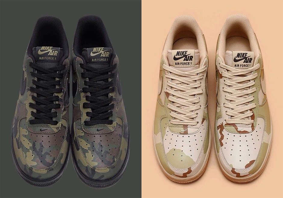 b15399e95378b Nike Air Force 1 Low Camo Colorways October 2016 | SneakerNews.com