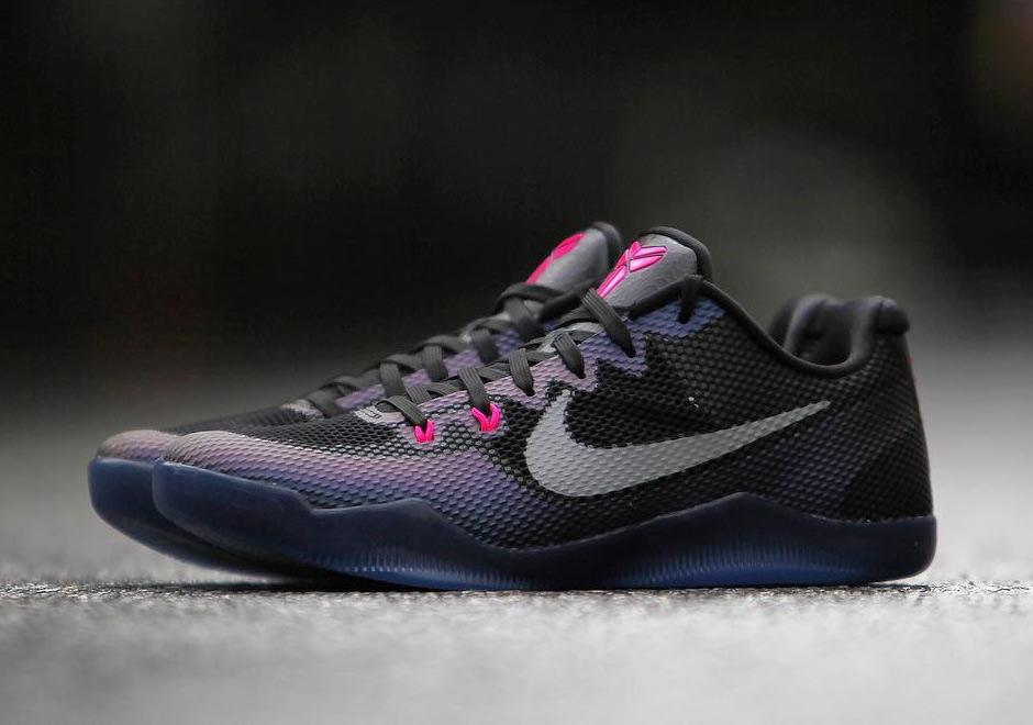 7c3d52ee8a2e Nike Kobe 11. Color  Black Hyper Pink-Metallic Silver Style Code  836184-005