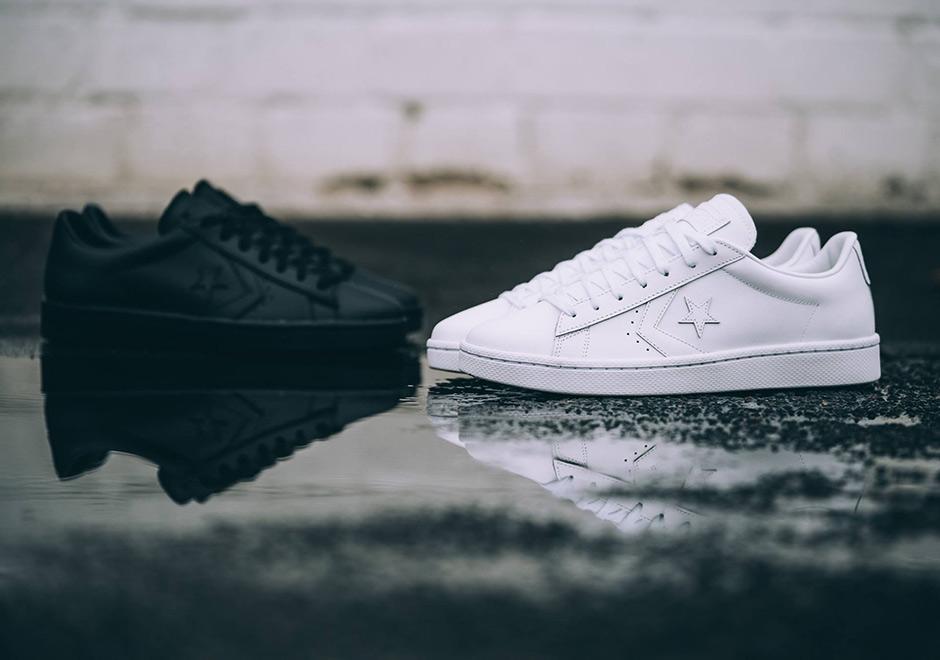 Converse Pro Leather 76 Ox Tonal White Black