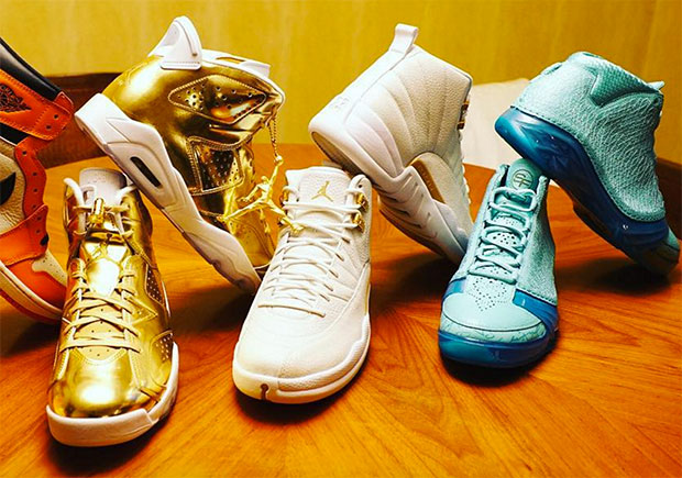 DJ Khaled's Latest Air Jordan Haul Includes SoleFly XX3s And Pinnacle Gold 6s