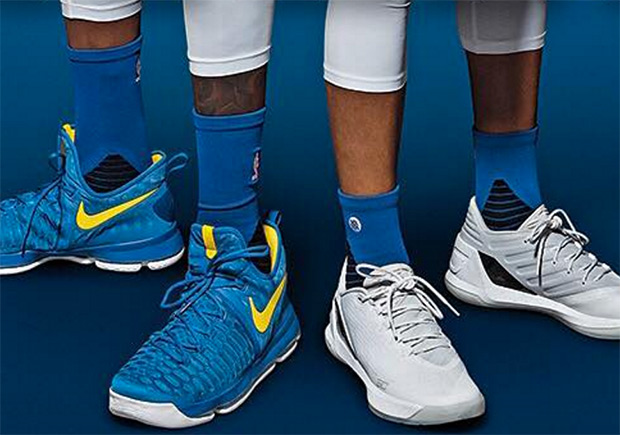 KD and Steph Curry Show Off New Signature PEs on SLAM
