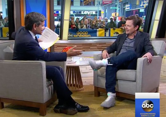 Michael J. Fox And The Nike Mag Appear On Good Morning America