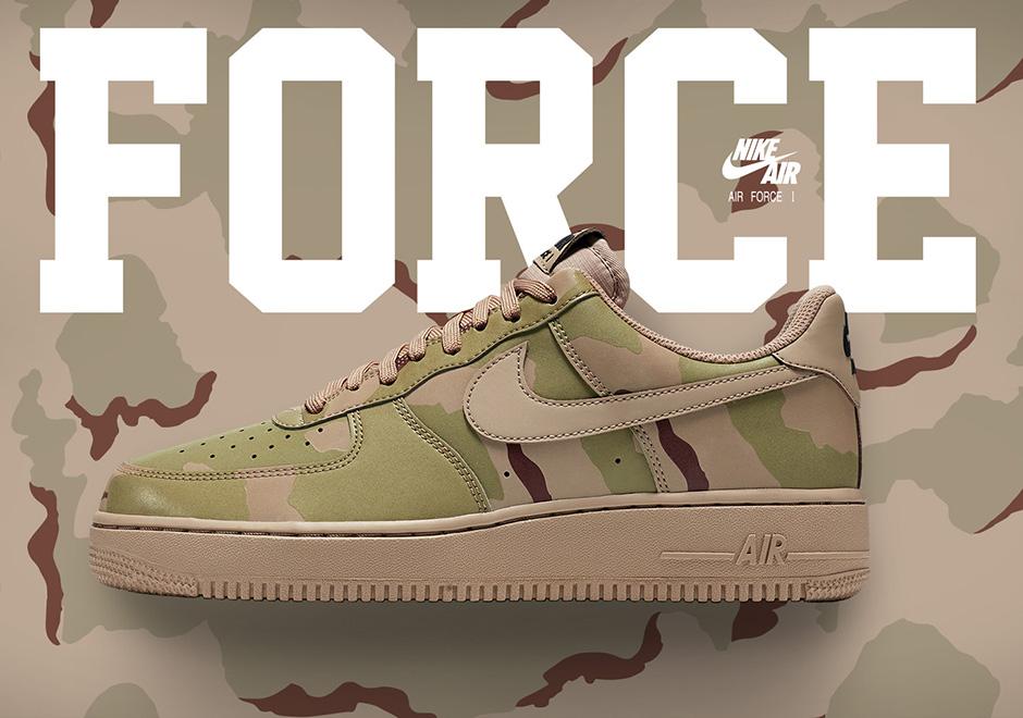 the latest d96cb fd9fc Nike Air Force 1 Reflective Desert Camo 718152-204   SneakerNews.com