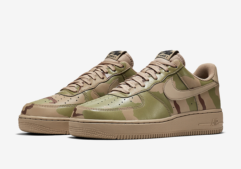 air force 1 gold reflective camo