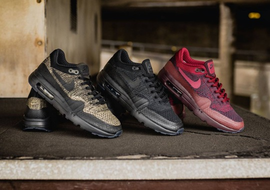 New Colorways Of The Nike Air Max 1 Flyknit Arrive For Fall 2016