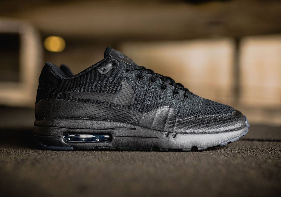 21daad70694 Nike Air Max 1 Ultra Flyknit. Color  Black Black-Anthracite Style Code   856958-001