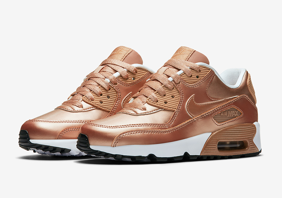 nike air max 90 gs metallic bronze 859633 900. Black Bedroom Furniture Sets. Home Design Ideas