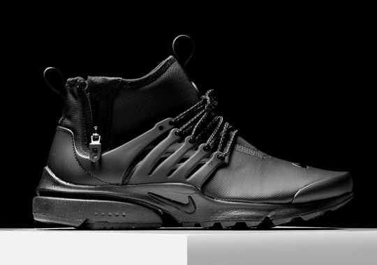 """The Nike Presto Mid Utility """"Triple Black"""" Is Available"""