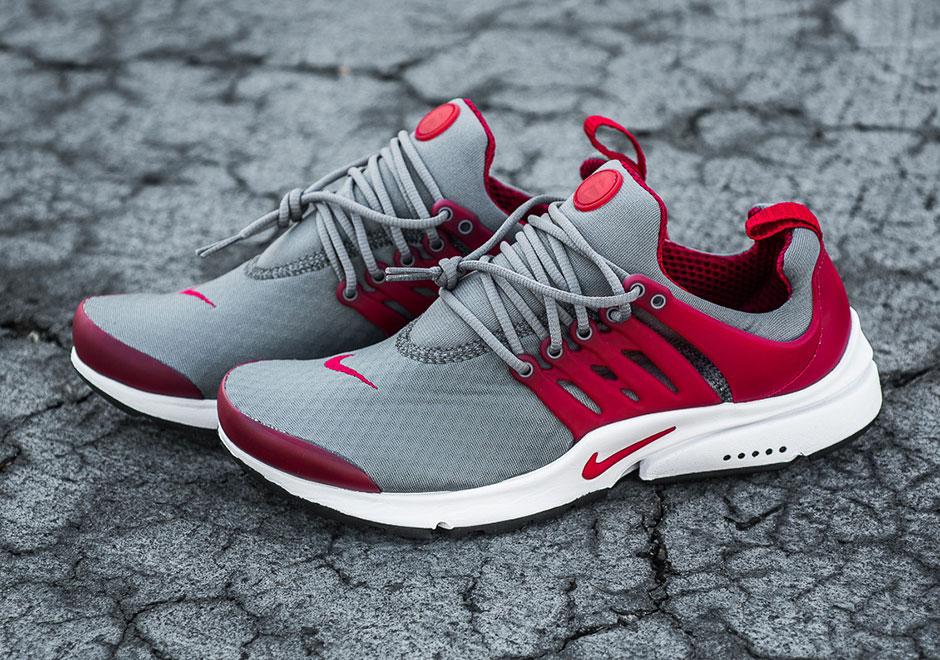 fef5f7f471 Nike Air Presto Essential. Color: Cool Grey/Gym Red Style Code: 848187-008