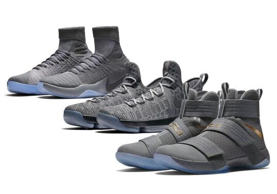 """Nike Basketball Kicks Off New NBA Season With """"Battle Grey"""" Collection"""