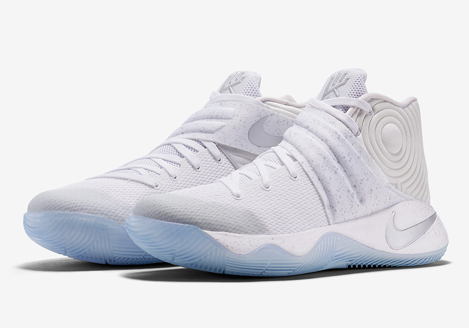 reputable site 1da38 cea3c Nike Kyrie 2 White Metallic Silver Ice 852399-107   SneakerNews.com