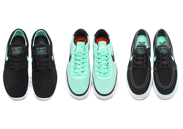 """new styles 05f85 62c98 Nike Details Three Skate Shoes In """"Green Glow"""""""