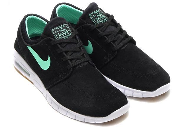871d0ed013 Nike SB Stefan Janoski Max. Color: Black/Green Glow-White-Gum Light Brown  Style Code: 685299-039