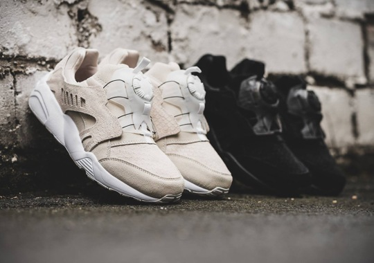 "Snakeskin Suede Uppers Appear On The Puma Disc Blaze ""Nude"" Pack"