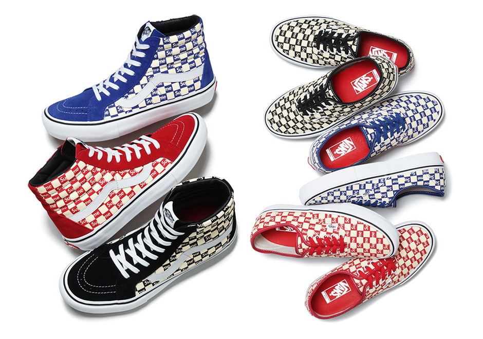 c85dd1fa814f3c Supreme Vans Sk8-Hi Authentic Checker Box Logo Fall 2016 ...