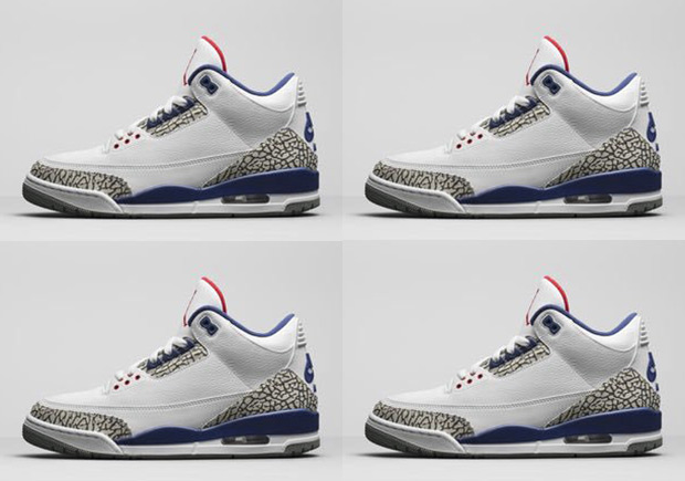 "Jordan Brand Released Official Image Of The Air Jordan 3 ""True Blue"" With  Nike"