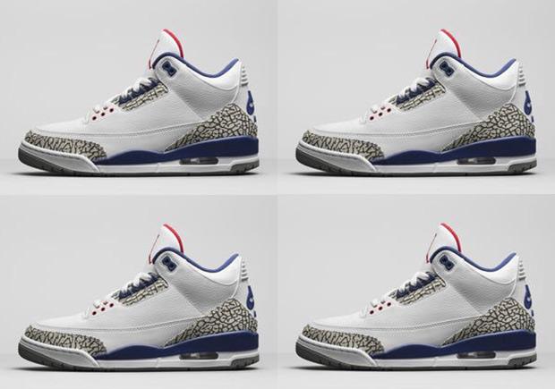 "Jordan Brand Released Official Image Of The Air Jordan 3 ""True Blue"" With  Nike"