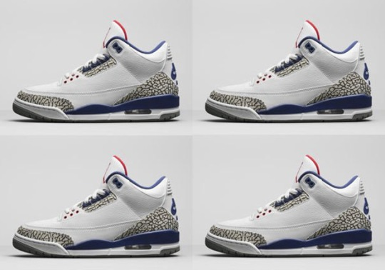 "Jordan Brand Released Official Image Of The Air Jordan 3 ""True Blue"" With Nike Air"