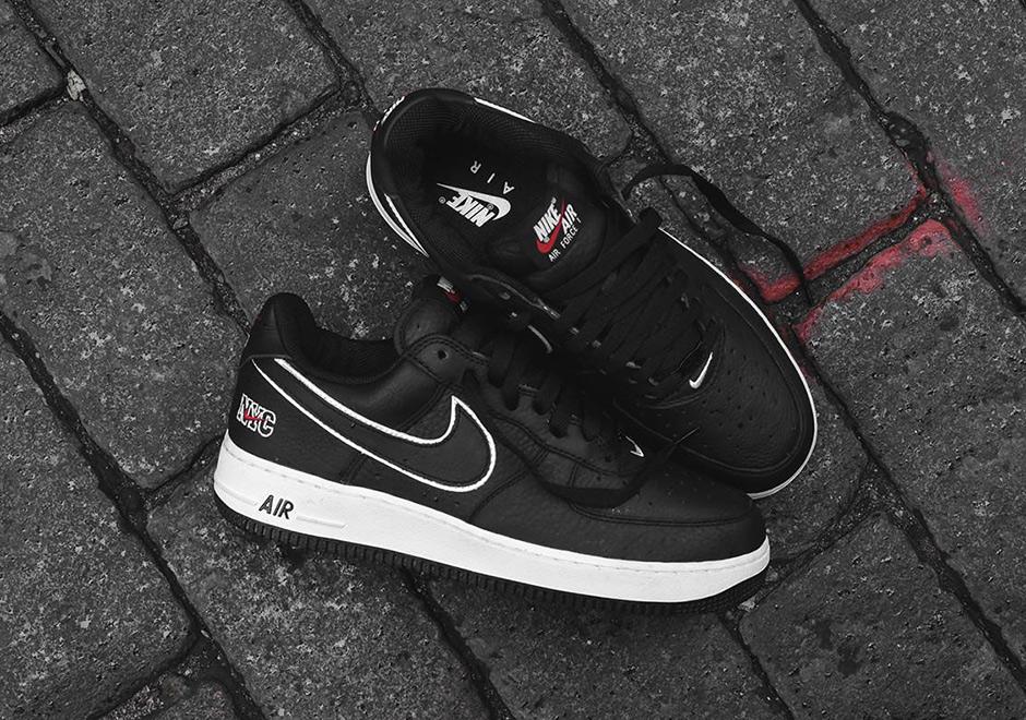 Nike Air Force 1 Low Premium Black White Varsity Red