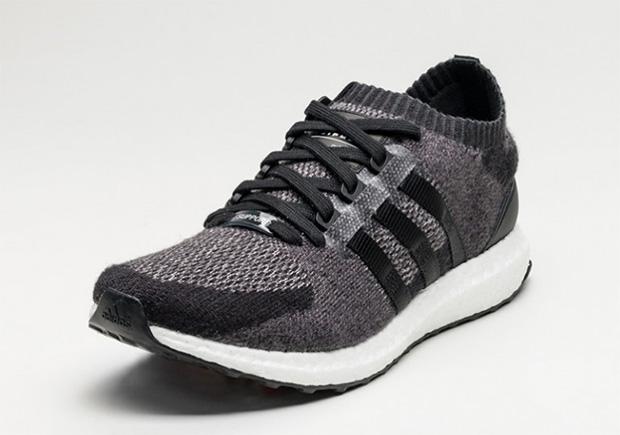 adidas EQT Support Ultra Primeknit Black Wool Sneaker Bar