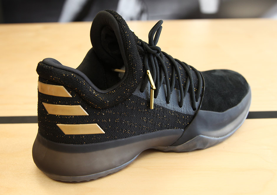 c85d3e647eff adidas Harden Vol. 1 Black Gold