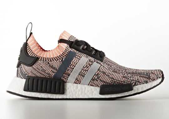 Salmon Pink Glitch Camo Appears On The adidas NMD R1 Primeknit