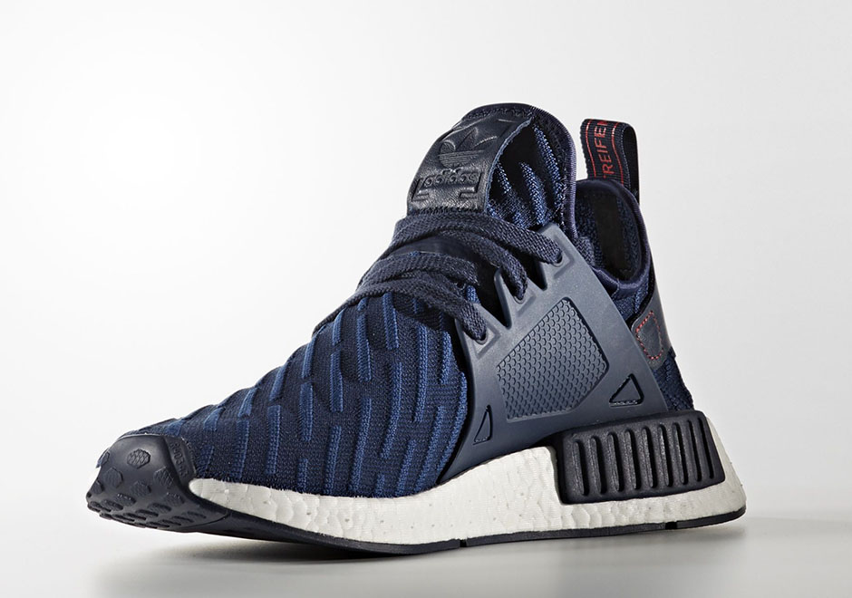 save off a57d4 bbe36 adidas NMD XR1 Blue Striped Primeknit | SneakerNews.com