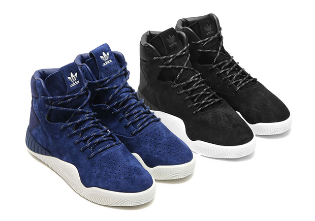 The Adidas Tubular Instinct Arrives In Tonal Black and Navy Uppers