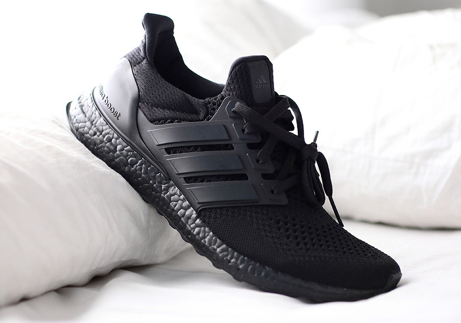 adidas ultra boost triple black release date where to. Black Bedroom Furniture Sets. Home Design Ideas