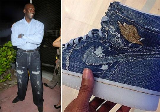 There's An Air Jordan 1 Sample That Reminds Us Of Michael Jordan's Jeans