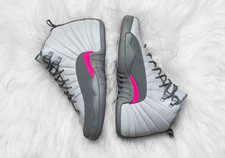 low priced 0d4ae 914a8 Air Jordan 12 GG Wolf Grey Vivid Pink Where To Buy   SneakerNews.com