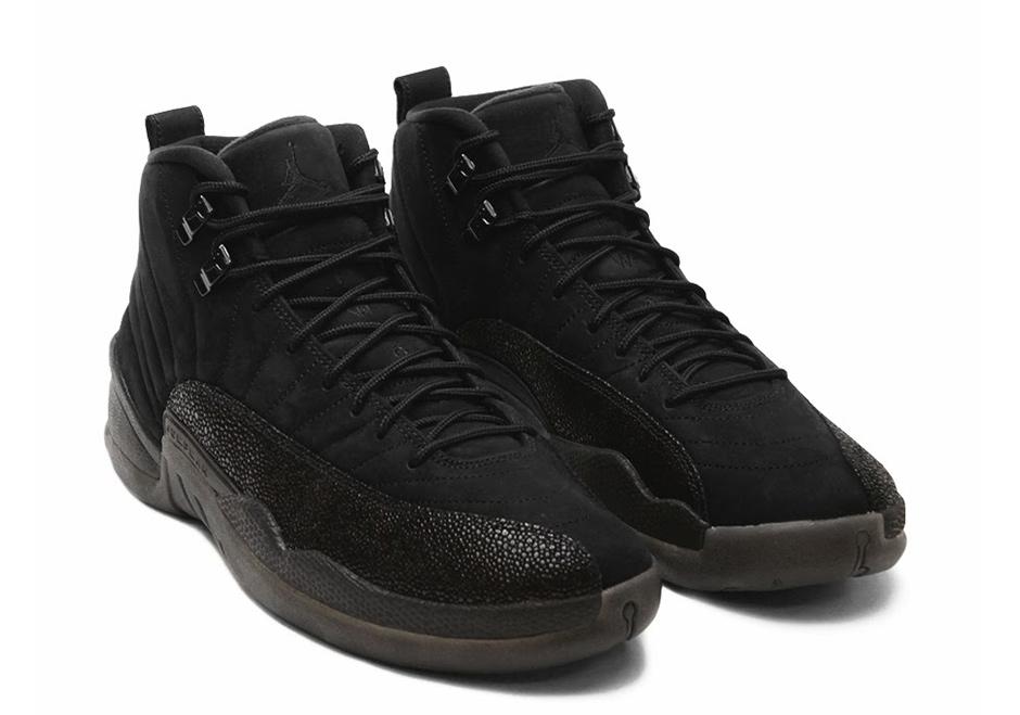 air jordan 12 all black 2016