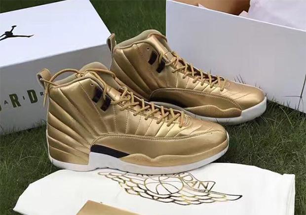 Air Jordan 12 Pinnacle Gold First Look  af55ae888149