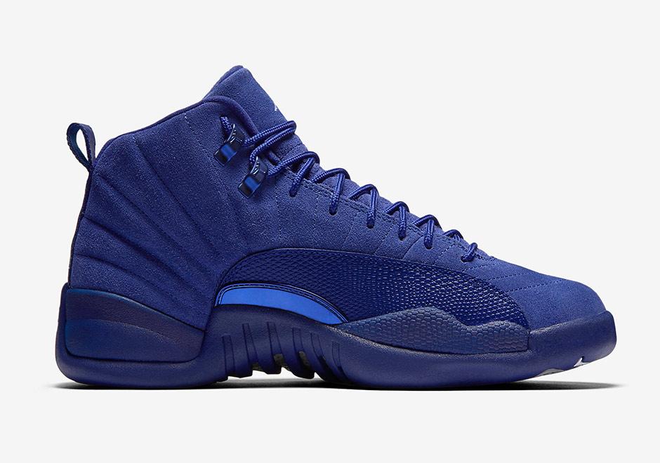 1f041517b4a Air Jordan 12 Blue Suede 130690-400