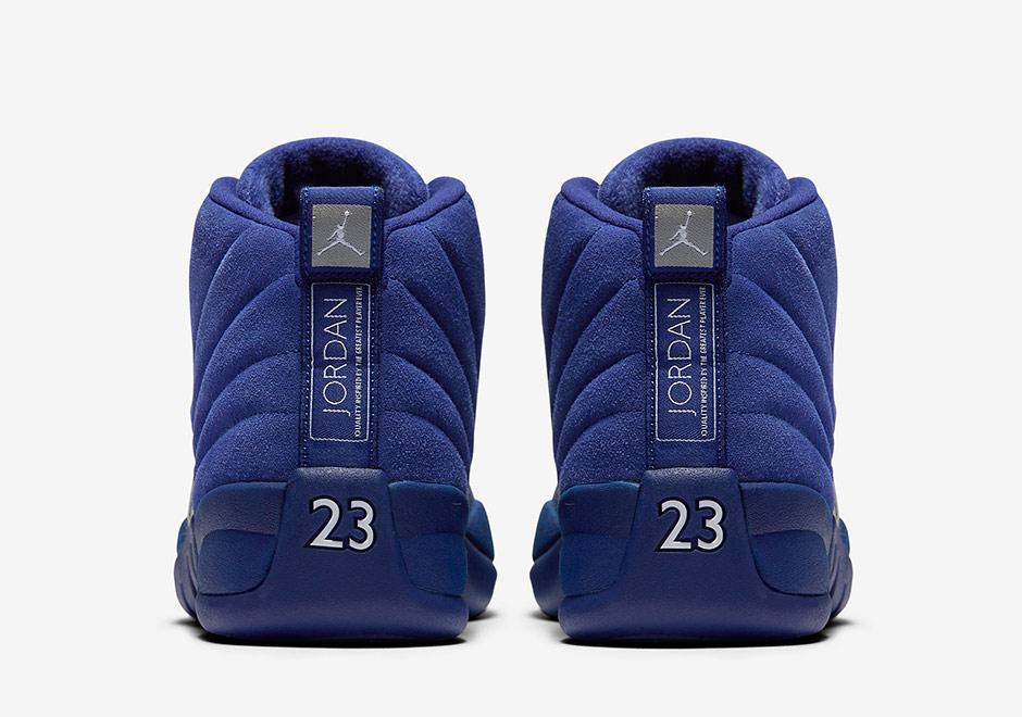 new product e54b6 e600b Air Jordan 12 Blue Suede 130690-400 | SneakerNews.com