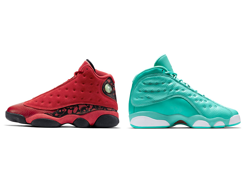 """separation shoes 9e59b 0757a Detailed Look At The Air Jordan 13 """"What Is Love"""" Pack"""