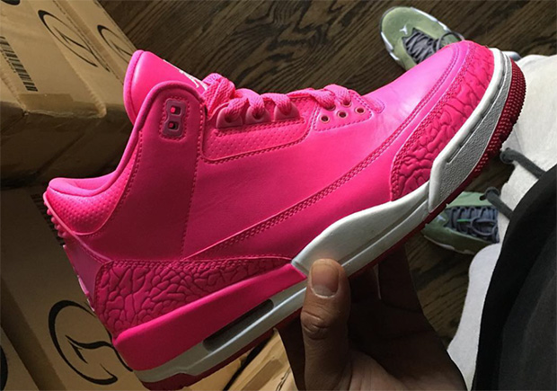 purchase cheap 4739b 0338d Air Jordan 3 Hot Pink Mandy White PE | SneakerNews.com