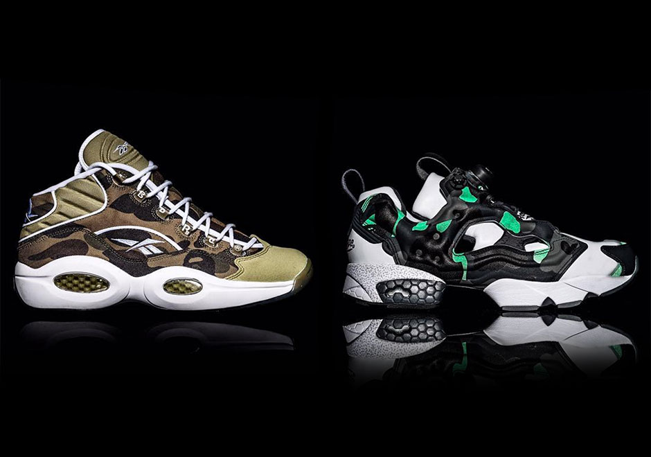 25b3fcd4013 BAPE Reebok Question Mid and Instapump Fury