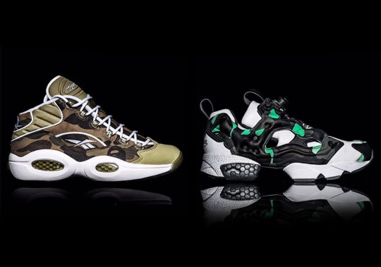 BAPE And Reebok Team Up For The Question Mid And Instapump Fury
