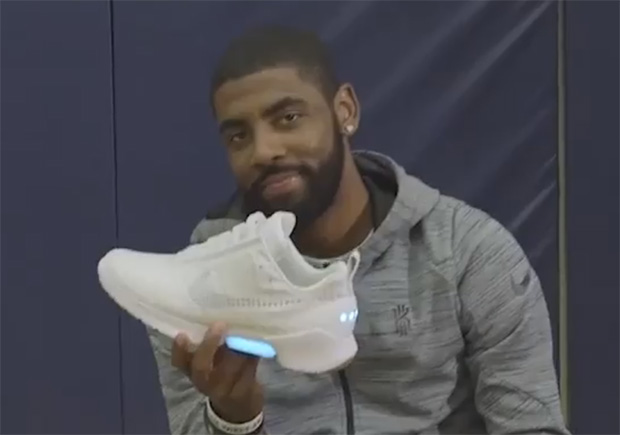 Kyrie Irving Tests Out The Nike HyperAdapt 1.0