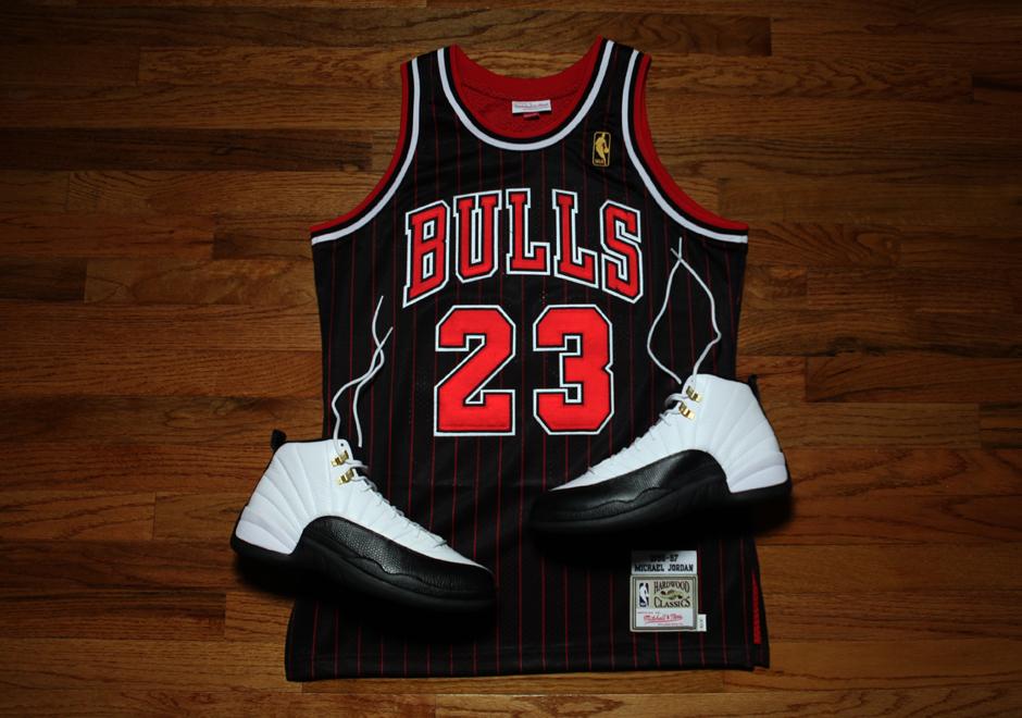 low priced 5392a e8d90 Michael Jordan Bulls Jersey Black Pinstripe Buy ...