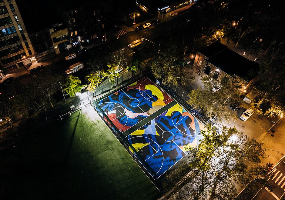 Nike Kaws Basketball Courts Nyc Sneakernews Com
