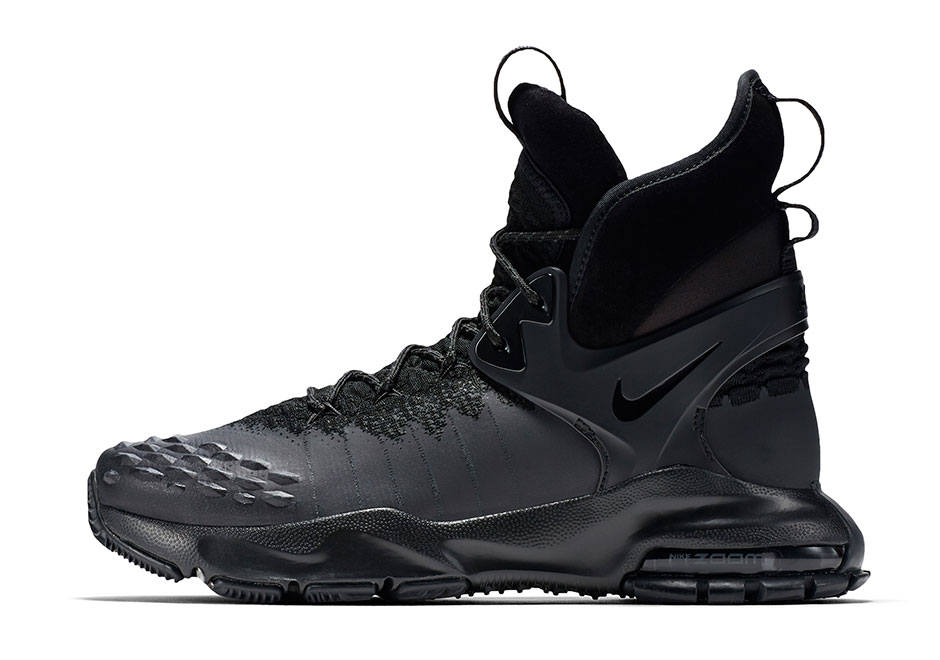 """8efcd9d135a0 The rugged and stylish Zoom Tallac Flyknit can be previewed in three  colorways here of """"Triple Black"""""""