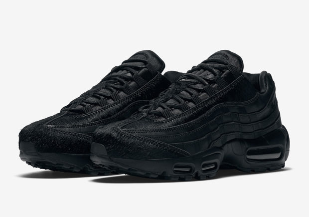 Nike Adds Pony Hair To The All-Black Air Max 95 For Women