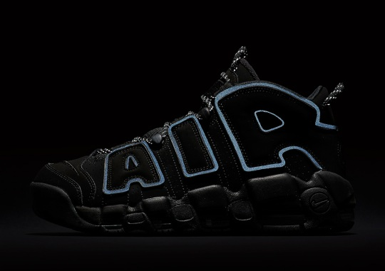 The Nike Air More Uptempo Is Back In Black and Reflective