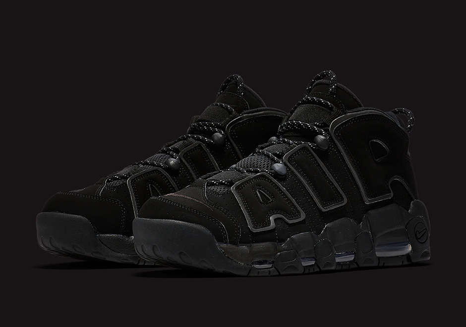 "watch cf7c3 3615c Nike Air More Uptempo ""Triple Black""  ""Reflective"" Release Date  April  14th, 2017  160. Color  Black Black-Metallic Silver"