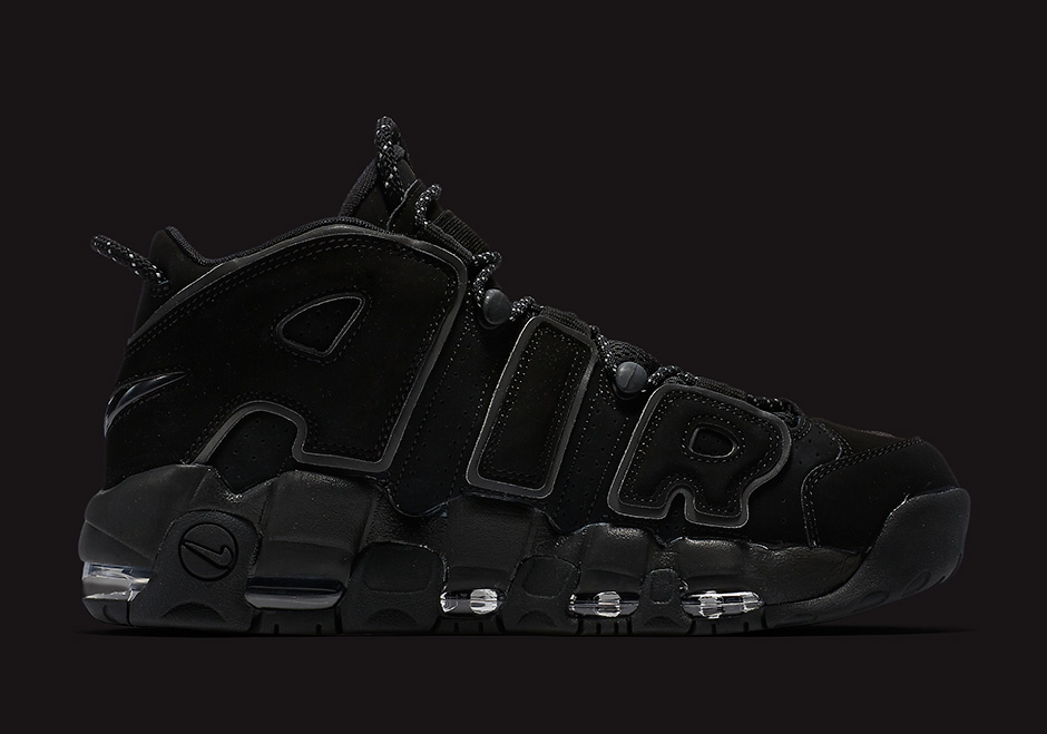 """huge discount f3f23 5ac04 ... The Nike Air More Uptempo """"Triple Black"""" Releases Friday ..."""