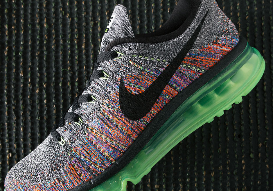 Nike Flyknit Air Max Grey Multi Color |