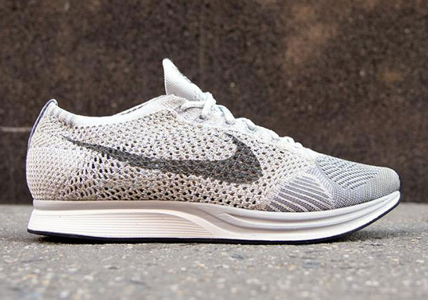 30a05975037b Nike Flyknit Racer. Color  Pure Platinum Cool Grey-White Style Code   862713-002. Release Date  October 14